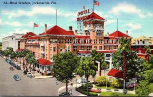 Florida Jacksonville Windsor Hotel 1942 Curteich