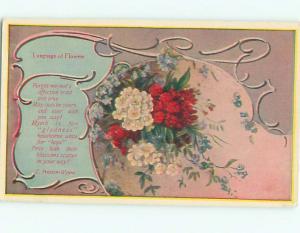 Pre-Linen Language Of Flowers BEAUTIFUL ASSORTMENT OF FLOWERS AC4126