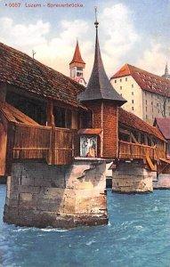 Luzern Spreuerbrucke Switzerland Unused