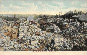 G87/ Bedford Indiana Postcard c1910  P.M.&B Stone Quarry Occupational 4