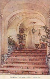 Interior, Rood-Garden, Hotel Ontario, Mexico City, Mexico, 1900-1910s