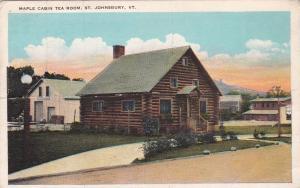 ST. JOHNSBURY, Vermont, 1910s-20s; Maple Cabin Tea Room