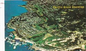 California Pacific Grove Shoreline Aerial View Showing Beach At Lovers Point