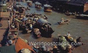 Dhonburi Thailand Floating Market, Wat Sai  Floating Market, Wat Sai