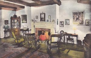 West Virginia Lewisburg The Fireplace General Lewis Hotel Handcolored Albertype