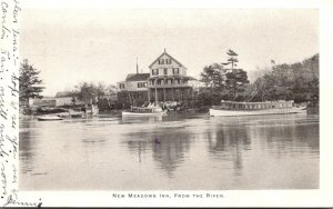 Maine New Meadows Inn From The River 1909