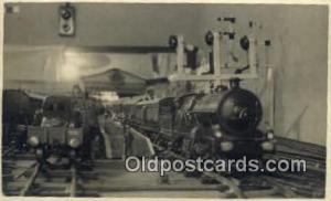 Toy Model Train Railroad, Real Photo Postcard Postcards  model Railroad Trains