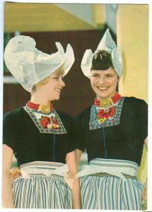 Volendam, two Dutch women in traditional cloths, 1972 used