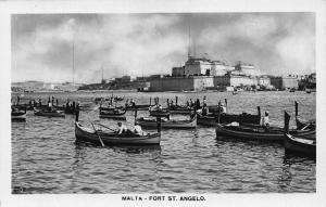 Malta Fort St Angelo real photo postcard
