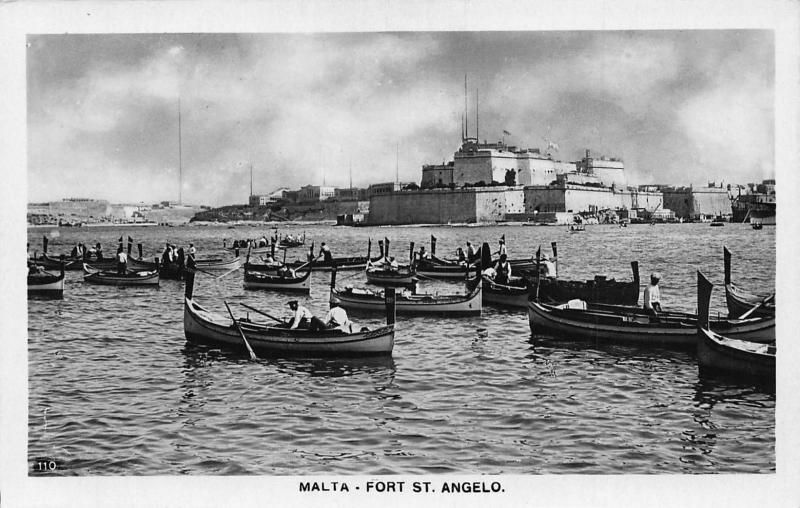 Malta Fort St Angelo real photo postcard