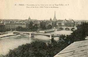 France - Paris, Panoramic View of the City Along the Seine