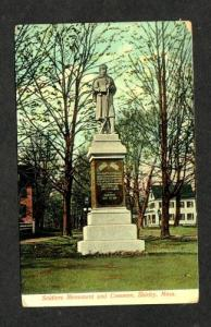 MA Soldier's Monument SHIRLEY MASS MASSACHUSETTS 1909