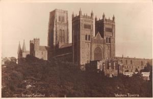 uk21310 western towers durham cathedral  real photo  uk
