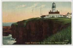 Cape Flattery Lighthouse Washington 1915 postcard