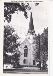 Unitarian Church, NORTHFIELD, Massachusetts, 40-60's