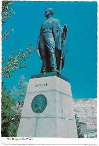 The Marquis de Mores Monument in Medora North Dakota Dedicated 1926 4 by 6
