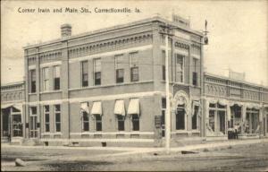 Correctionville IA Irin & Main c1910 Postcard