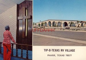 Continental-size TIP-O-TEXAS RV VILLAGE, PHARR, TX main bldg and chapel