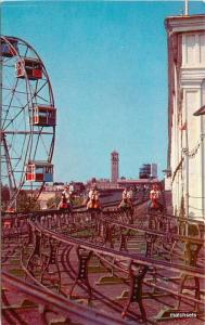 1950s Steeplechase Ferris Wheel Coney Island New York amusement 7457
