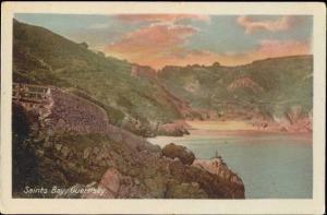 channel islands, GUERNSEY, Saints Bay (1910s)
