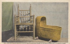 PLYMOUTH , Mass. , 1900-10s ; Gov. Carver's Chair