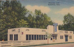 Tennessee Gatlinburg Riverview Cafe Curteich