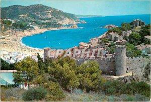 Postcard Modern Tossa de Mar Costa Brava Vue Generale of the Vila Vella and t...