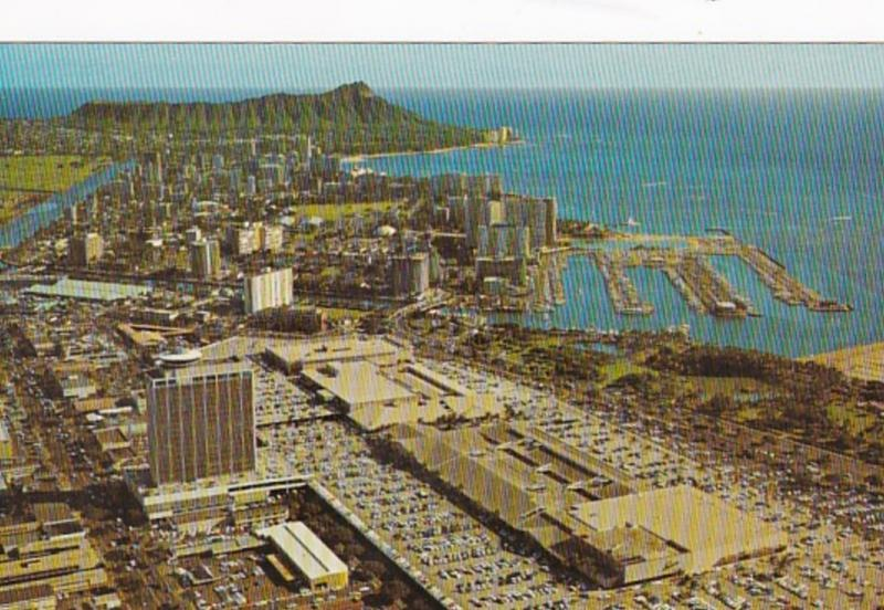 Hawaii Honolulu and Waikiki Aerial View