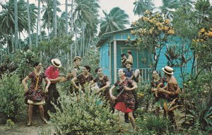 PUERTO RICO, 1940-60s; Folk Dancers, Plenas, born in the suburbs of Ponce