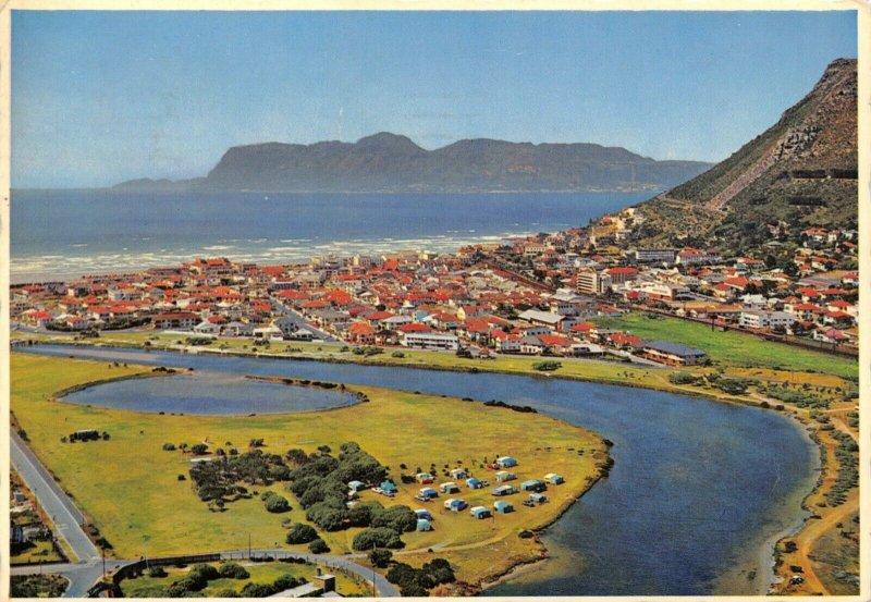 South Africa 1976 Postcard Aerial View of Muizenberg, Lake, Caravan Park ED3