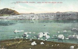 Muir Glacier, Alaska, Early Postcard, Used from Juneau Alaska to Sussex, N.J.