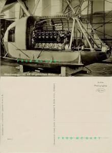 1929 Friedrichshafen a. B. Germany RPPC: Zeppelin Motor in Nacelle at Factory