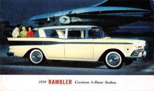 1959 AMC Rambler Custom 4-door Sedan six passengers vintage pc ZE686305