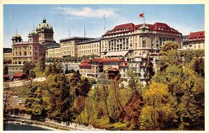 Switzerland Old Vintage Antique Post Card House of Parliaent, Bellevue Palace...