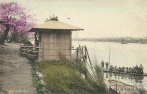 japan, TOKYO, Mukojima Ferry Boat (1907) Stamp