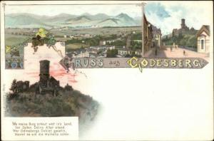 Gruss Aus Godesberg Germany c1900 Postcard
