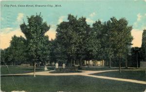Traverse City Michigan~City Park~Victorian Ladies Near Centerpiece c1910