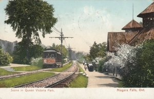 NIAGARA FALLS, Ontario, 1908 ; Trolley Car Station , Queen Victoria Park