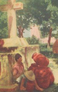 Cargador De Ollas Pottery Carrier Mexico Old Mexican Postcard