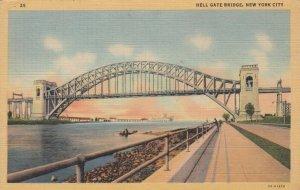 NEW YORK CITY , 30-40s ; Hell Gate Bridge