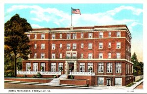 Virginia Farmville Hotel Weyanoke 1937 Curteich