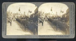 REAL PHOTO TRONDJHEM NORWAY NORGE PRINCE OF WALES CORONATION STEREOVIEW