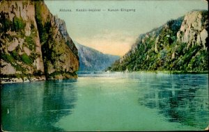 IMR00292 romania mehedinti alduna intrare cazane entrance danube river ca 1915