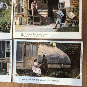 1907 LOT Of 4 : antique Shamrock Love  de witt c. wheeler Postcard