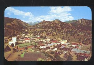 ESTES PARK COLORADO BIRDSEYE VIEW DOWNTOWN VINTAGE POSTCARD COLO.