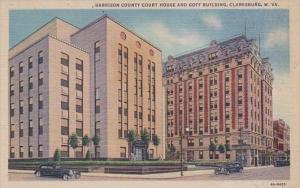 West Virginia Clarksburg Harrison County Court House and Goff Building Curteich