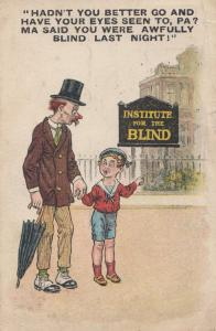 Institute For The Blind Comic Antique Postcard s
