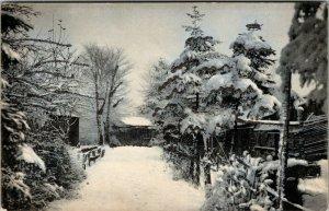 VINTAGE -  Snow SERIES - HOMES RURAL  - Rotograph view POSTCARD