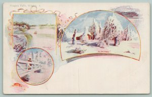 Niagara Falls New York~Winter Art Nouveau Scenes~Patriographic 1905 Artist PC