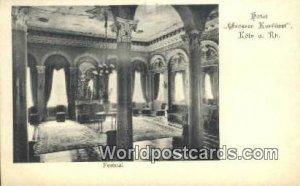 Hotel Grosser Kurfurst Koln a Rh Germany Unused